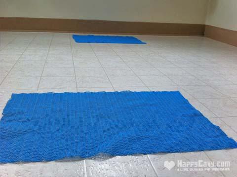 Anti slip fabric mat