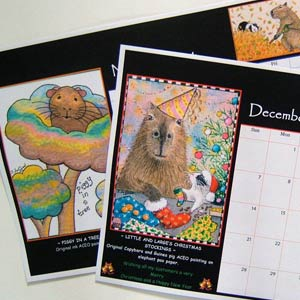 Illustrated Guinea Pig Calendar
